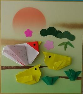 折り紙貼り絵